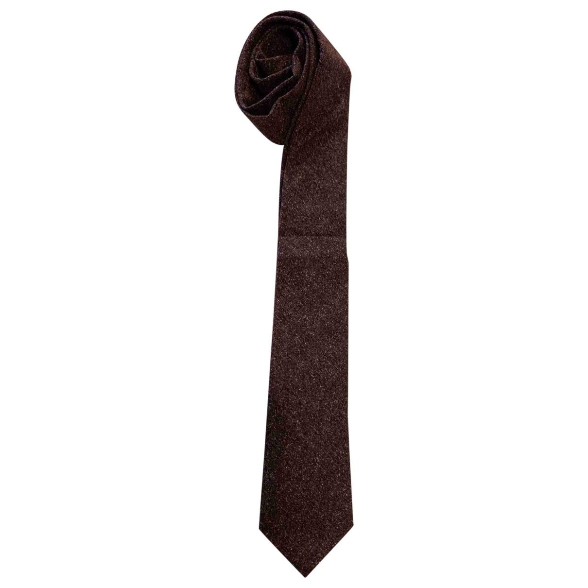 Brunello Cucinelli \N Burgundy Cashmere Ties for Men \N