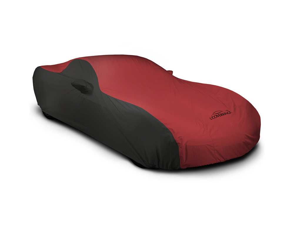 Coverking CVC3SP294FD9918 CVC3SP294 Stormproof 2-Tone Black Sides Red Center Custom Car Cover Ford Mustang 15-17