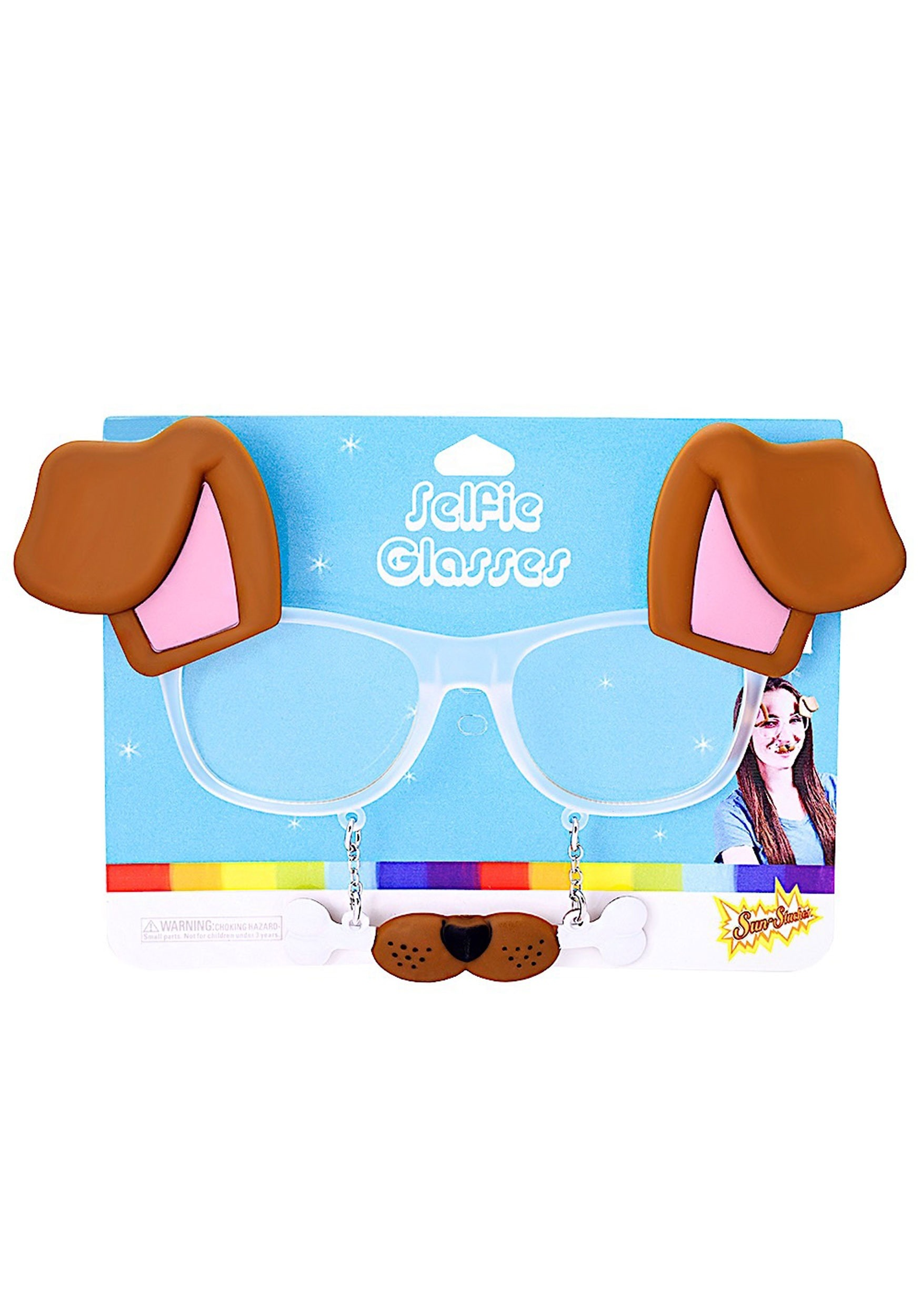 Puppy Dog Selfie Glasses for Costumes and Parties