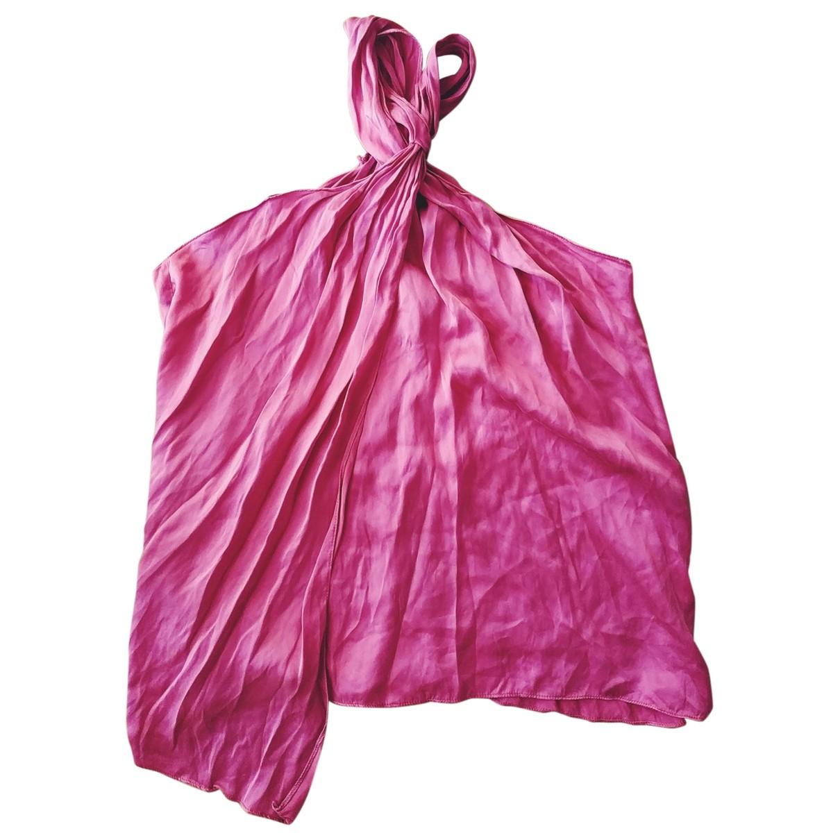 Topshop Boutique - Top   pour femme en soie - rose