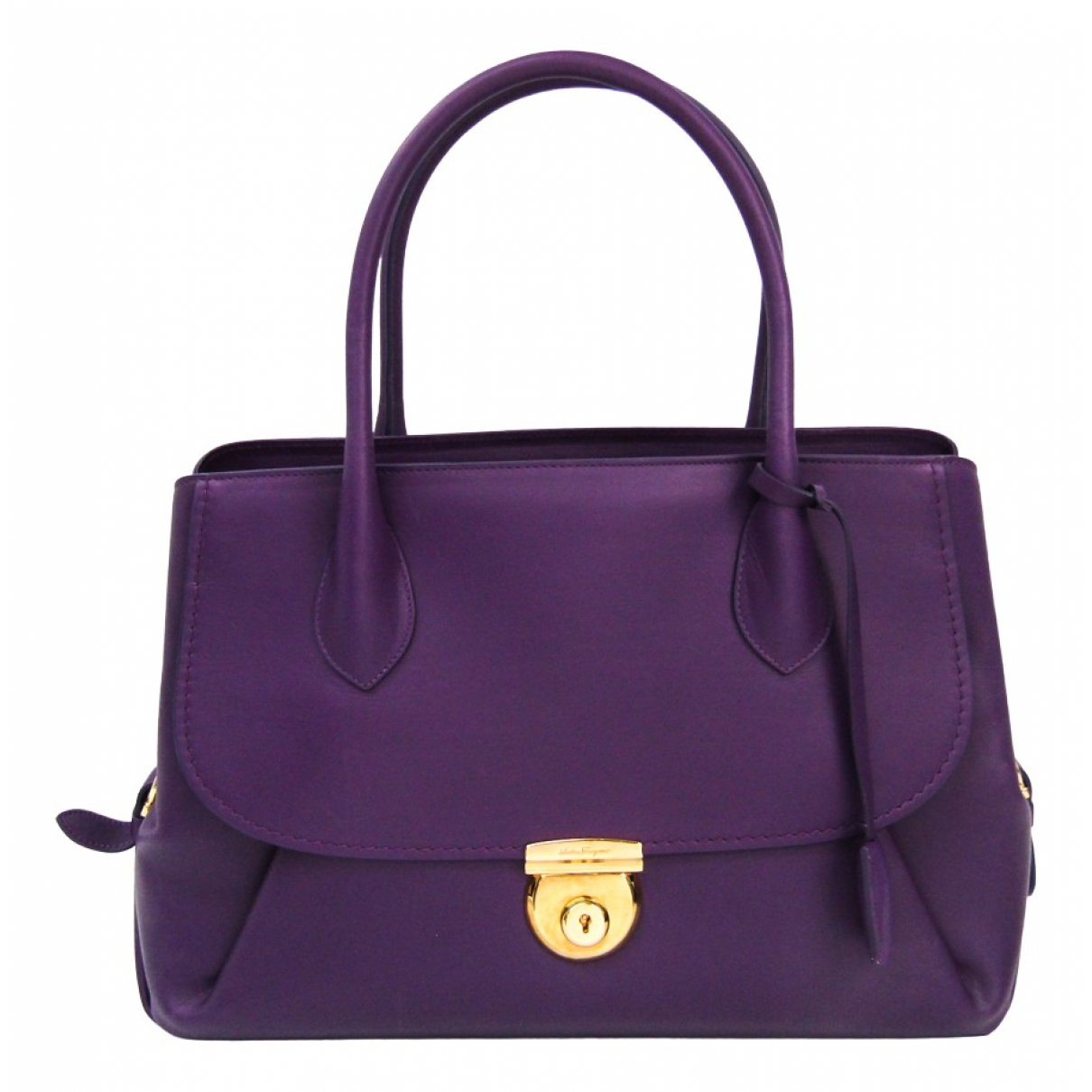 Salvatore Ferragamo N Purple Leather handbag for Women N