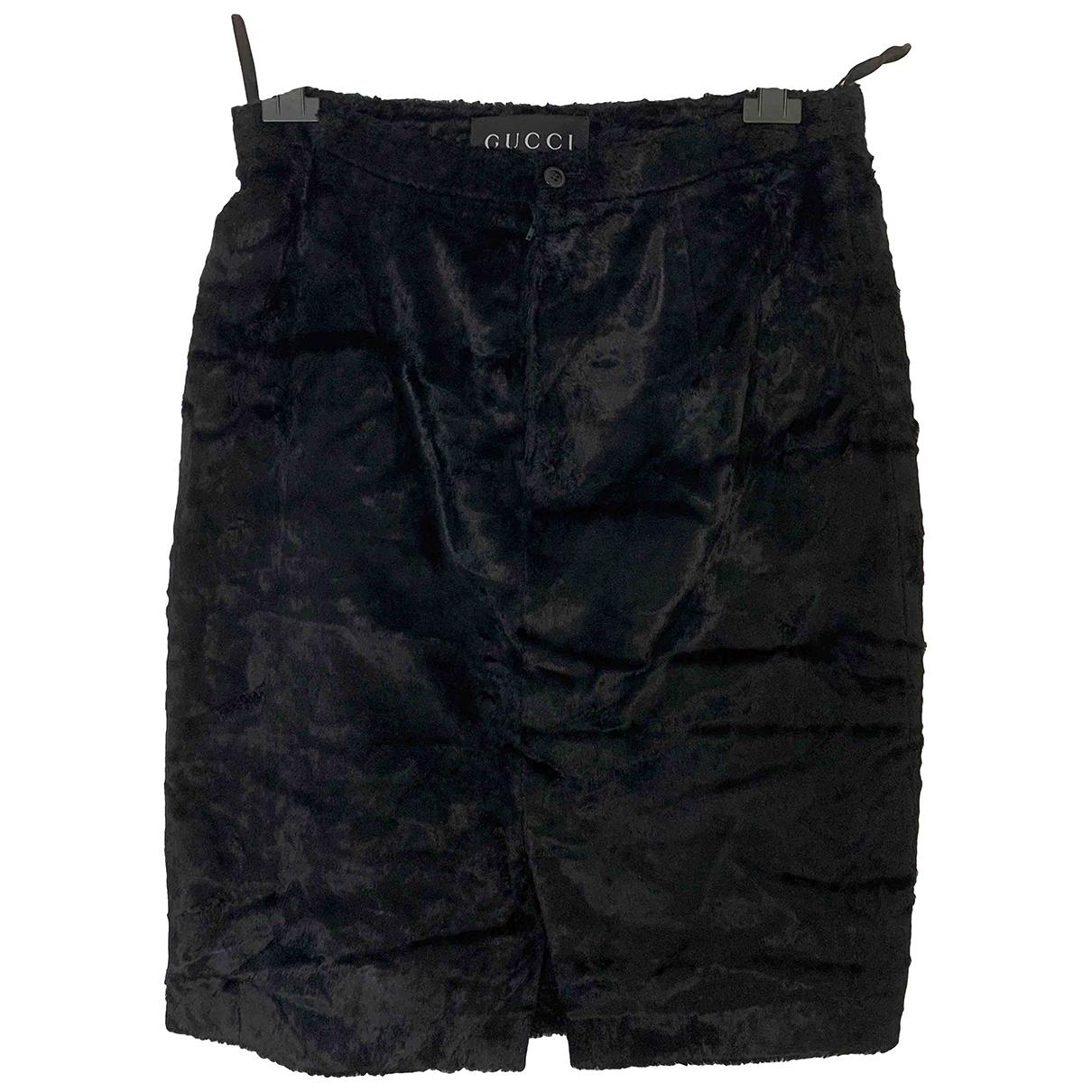Gucci \N Black Velvet skirt for Women 46 IT
