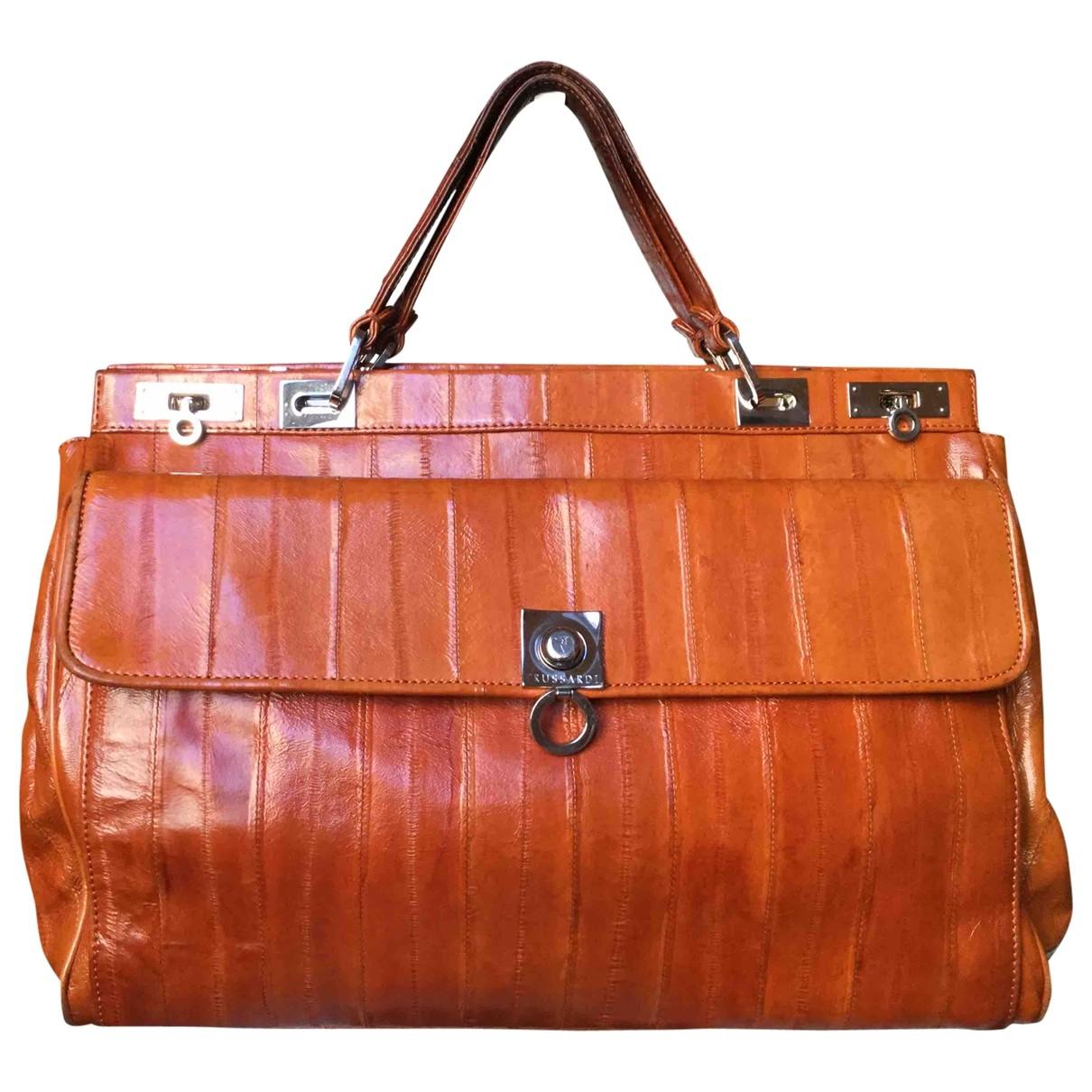 Trussardi \N Camel Eel handbag for Women \N