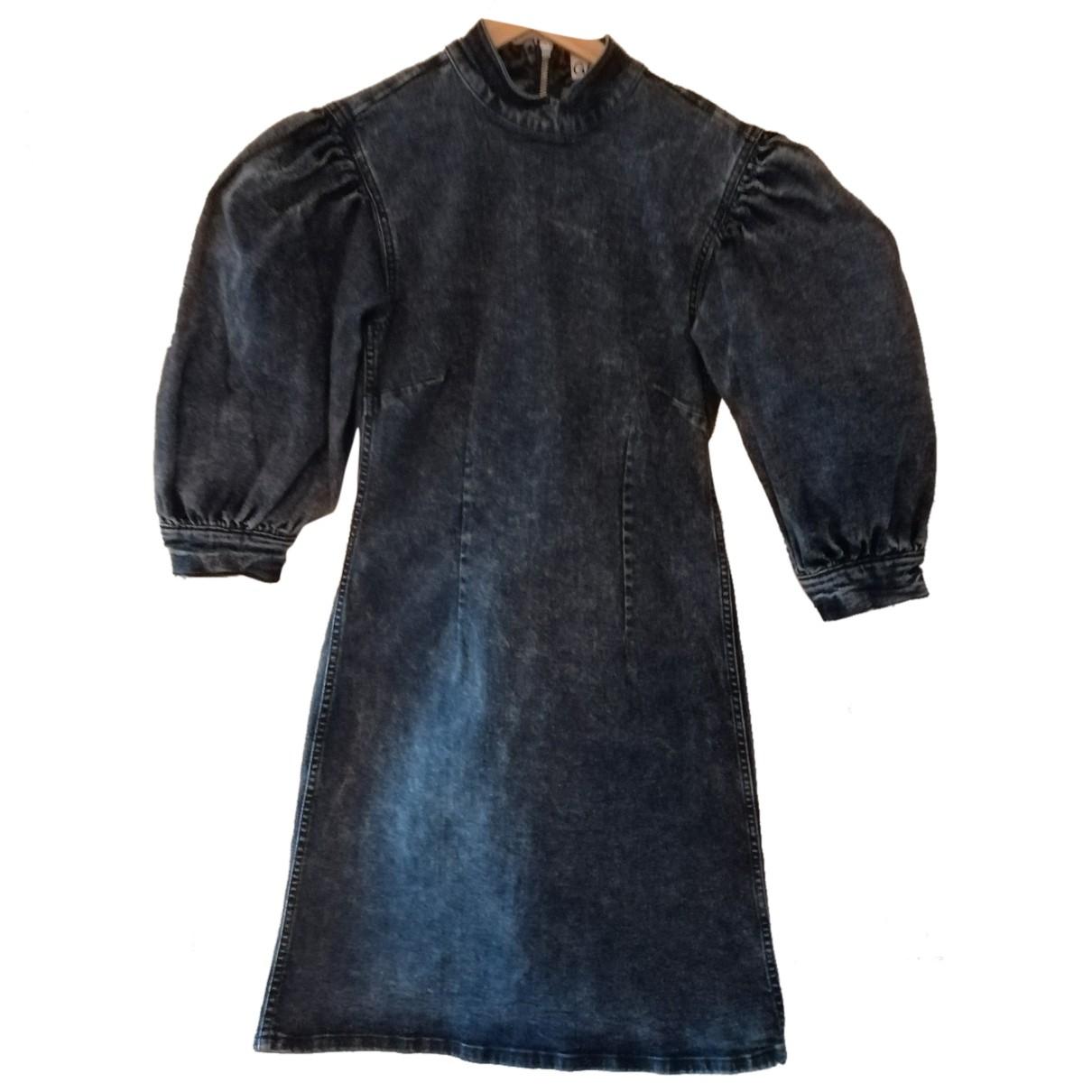 Ganni - Robe Spring Summer 2019 pour femme en denim - bleu
