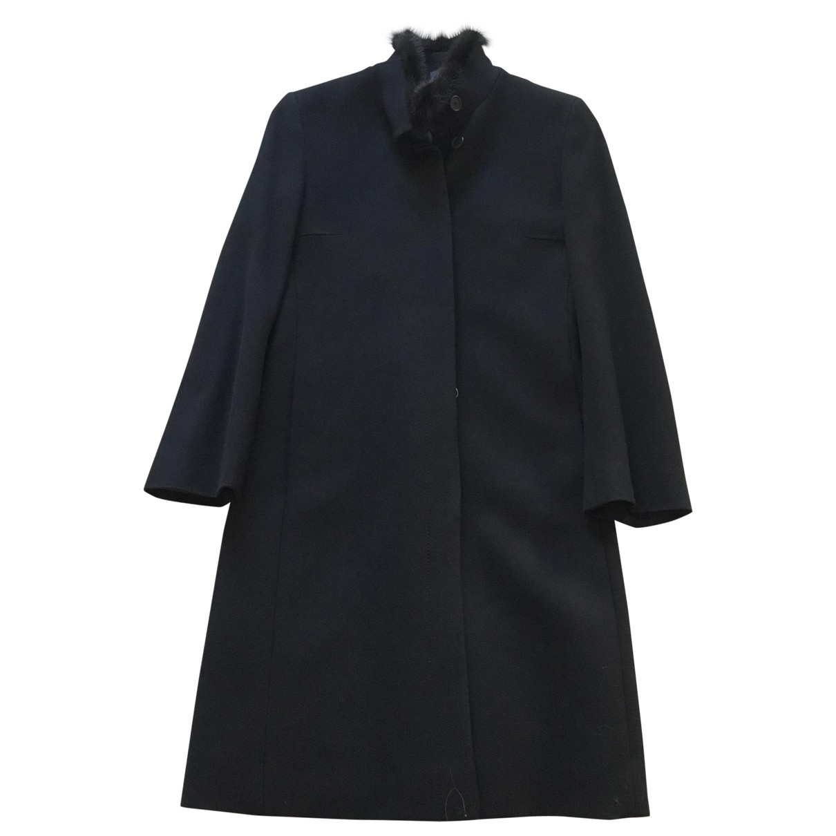 Non Signé / Unsigned \N Black Wool coat for Women 46 IT