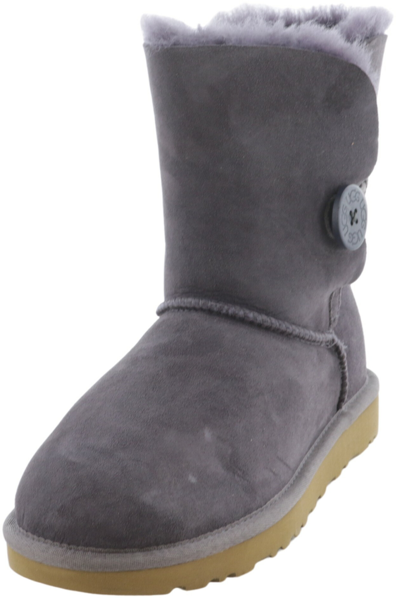 Ugg Women's Bailey Button II Nightfall High-Top Sheepskin Boot - 6M