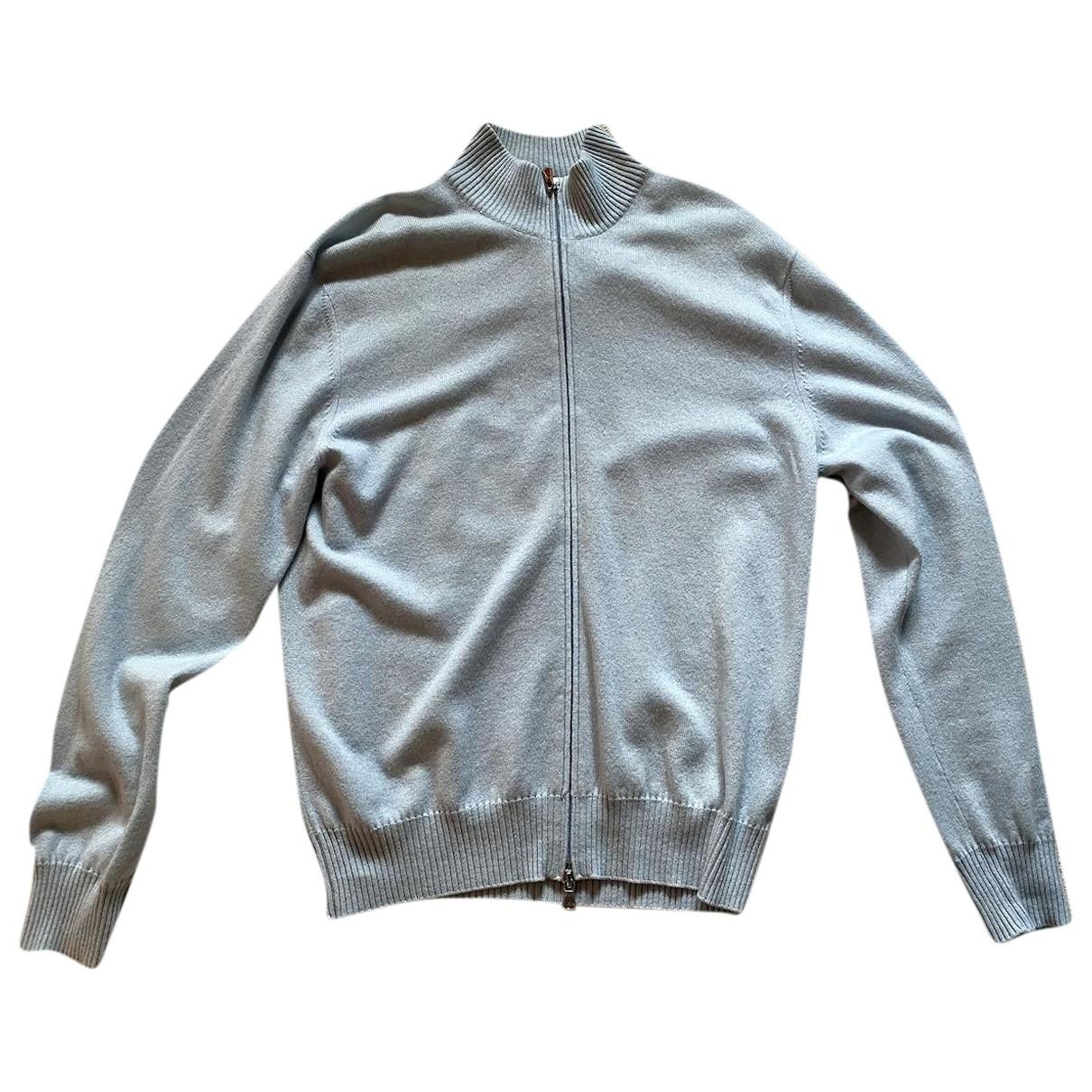 Brunello Cucinelli \N Pullover.Westen.Sweatshirts  in  Blau Kaschmir