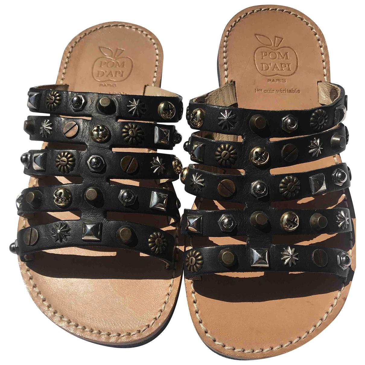 Pom Dapi - Sandales   pour enfant en cuir - noir