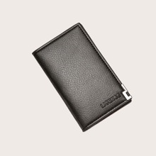 Men Pebble Embossed Purse With Card Holder