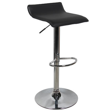 Adjustable Height Swivel Bar Stool with Black PVC Seat - Moustache® - 1/Pack