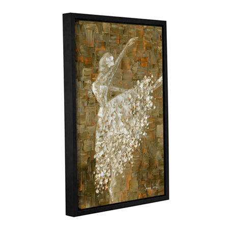 Brushstone Ballerina Gallery Wrapped Floater-Framed Canvas Wall Art, One Size , Brown