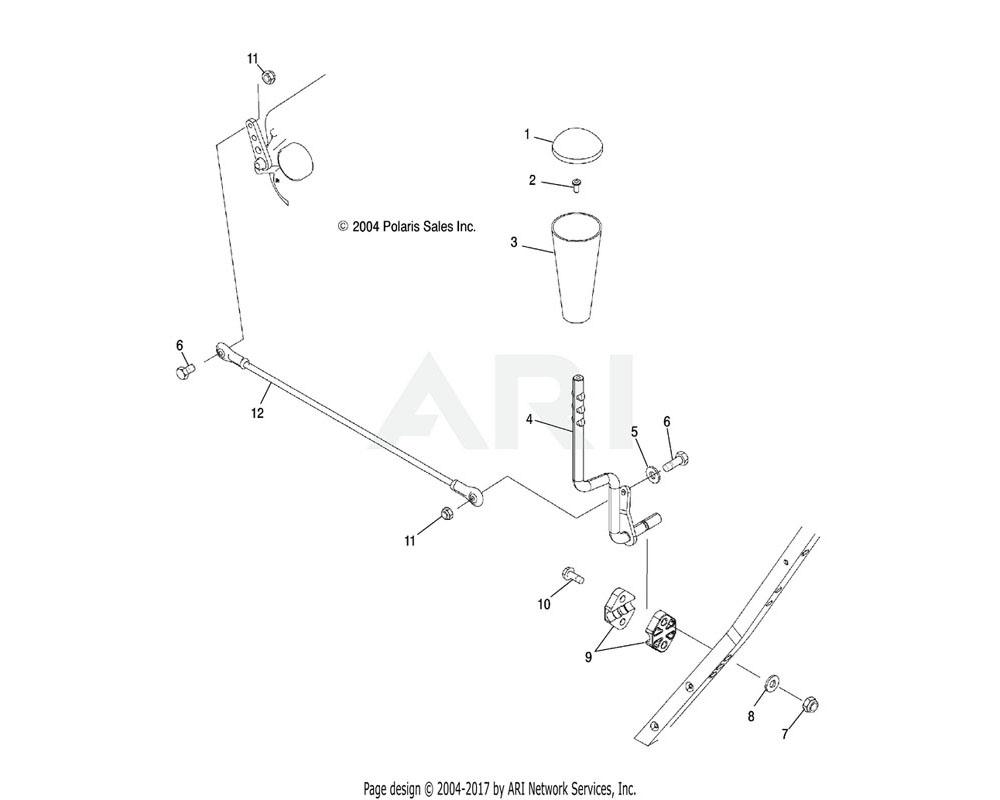 Polaris OEM 1015105-067 Gear Selector, Black