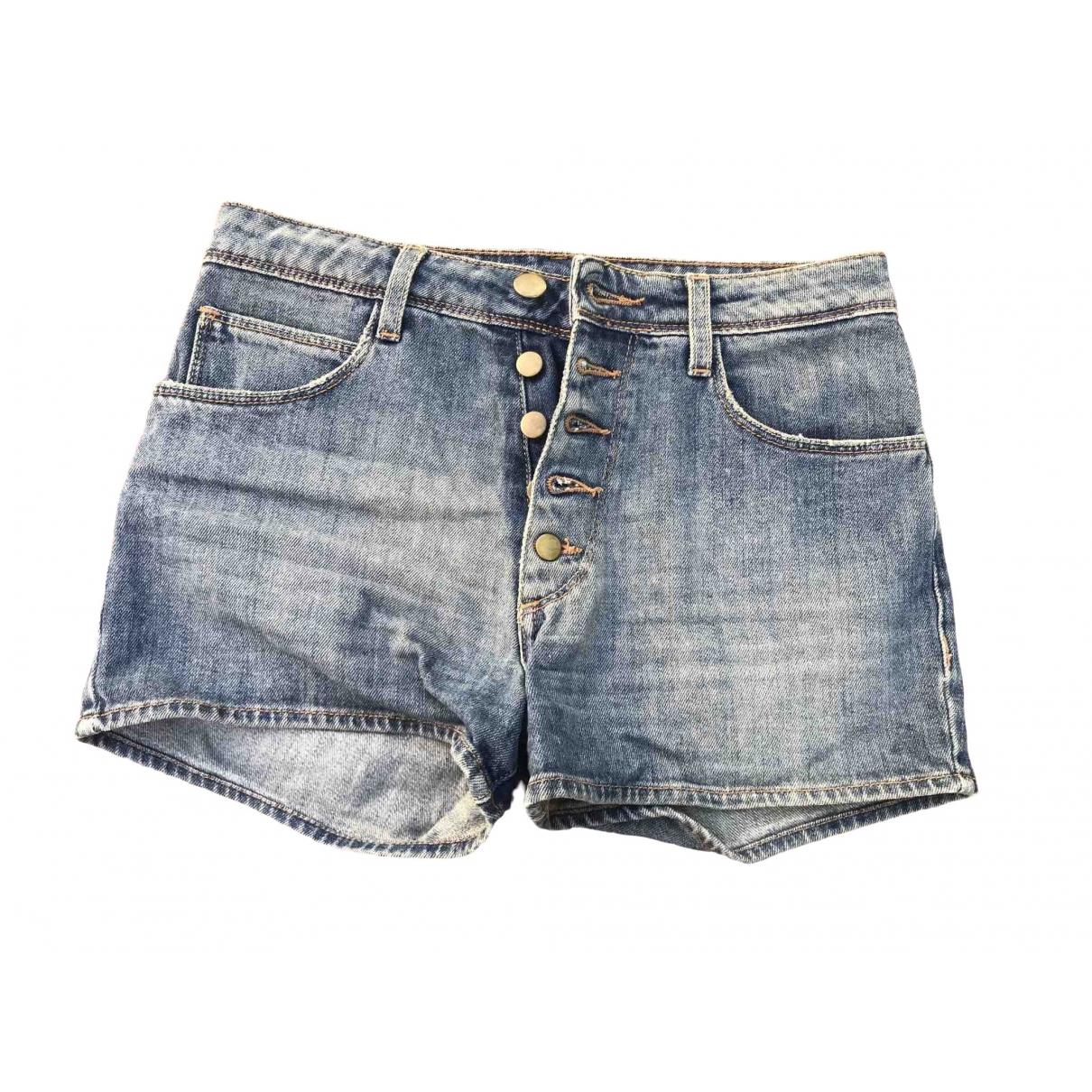 Acquaverde \N Shorts in  Blau Baumwolle