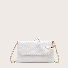 Braided Chain Satchel Bag