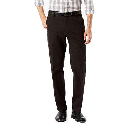Dockers Men's Straight Fit Easy Khaki with Stretch Pants D2, 30 32, Black