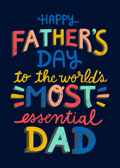 Father's Day Mail-for-Me Premium 5x7 Folded Card , Card & Stationery -Essential Dad