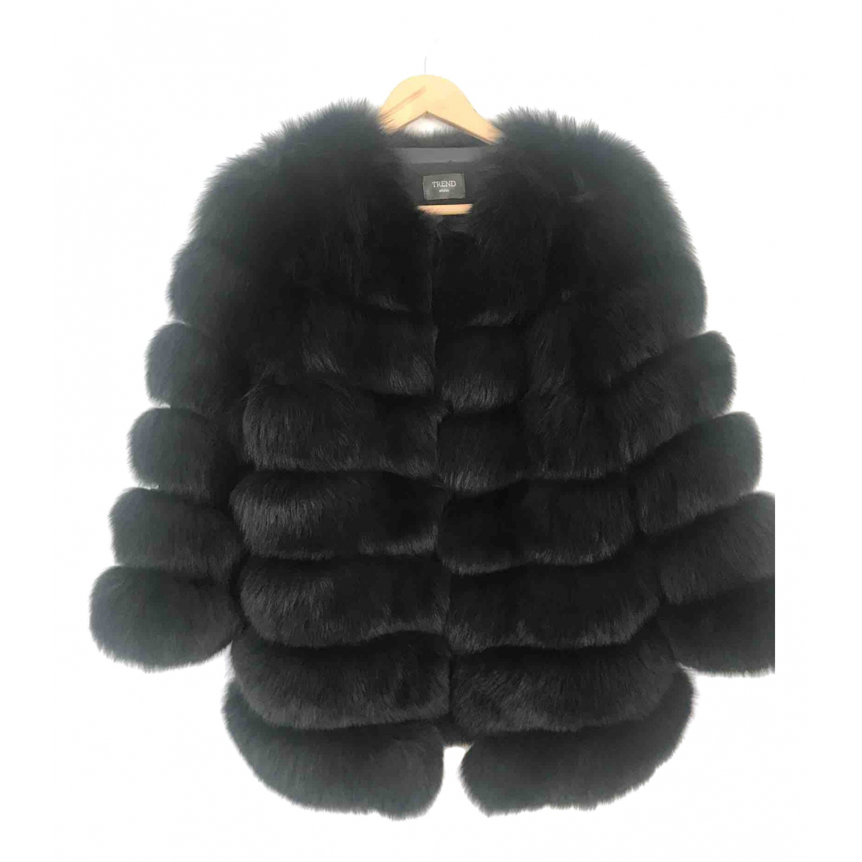 Non Signé / Unsigned \N Black Fox coat for Women 10 UK