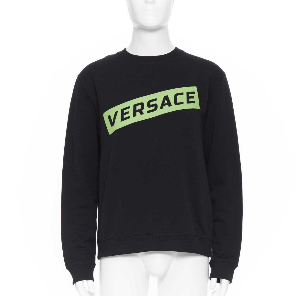 Versace \N Black Cotton Knitwear & Sweatshirts for Men XL International