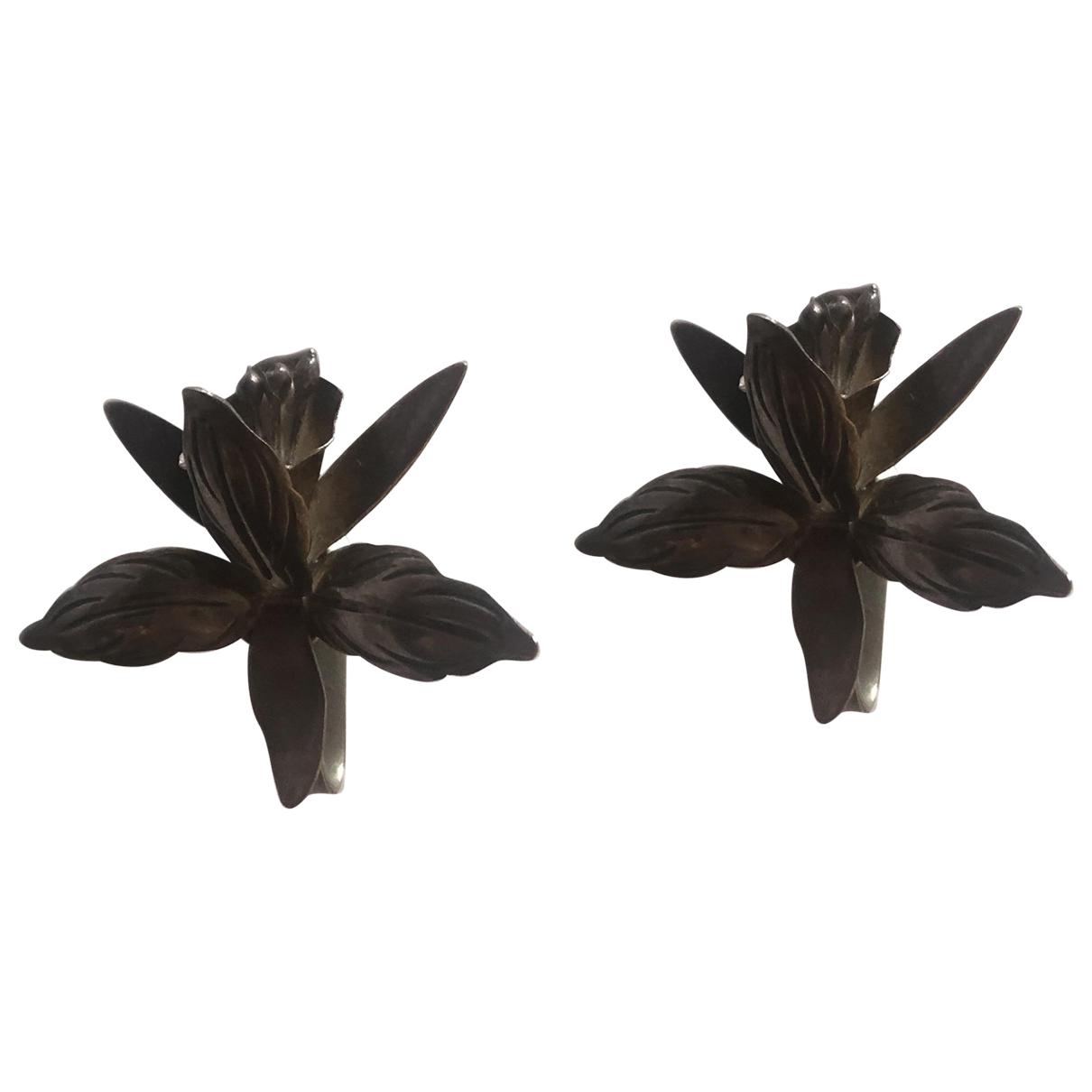 Pendientes Motifs Floraux de Plata Non Signe / Unsigned