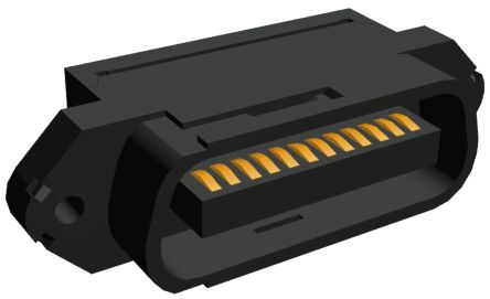 TE Connectivity 24-Way IDC Connector Plug for Cable Mount, 2-Row