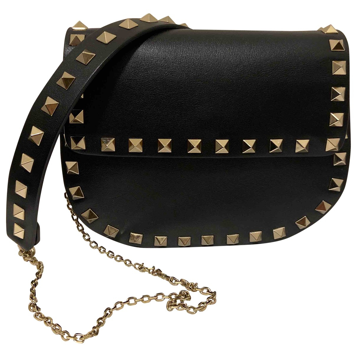 Valentino Garavani Rockstud Black Leather handbag for Women \N