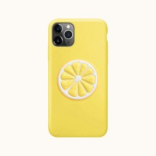 1 Stueck iPhone Schutzhuelle & 1 Stueck Handyhalter in Zitronenform