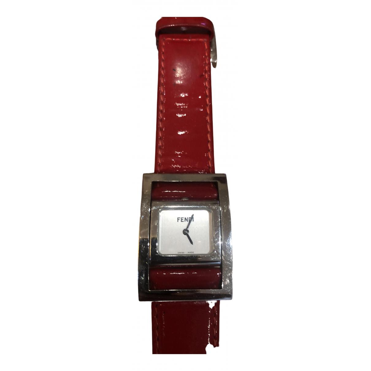 Fendi \N Uhr in  Rot Stahl