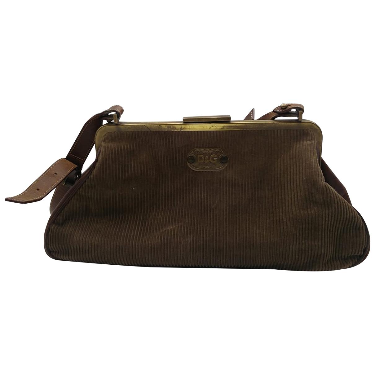 D&g \N Khaki Velvet handbag for Women \N