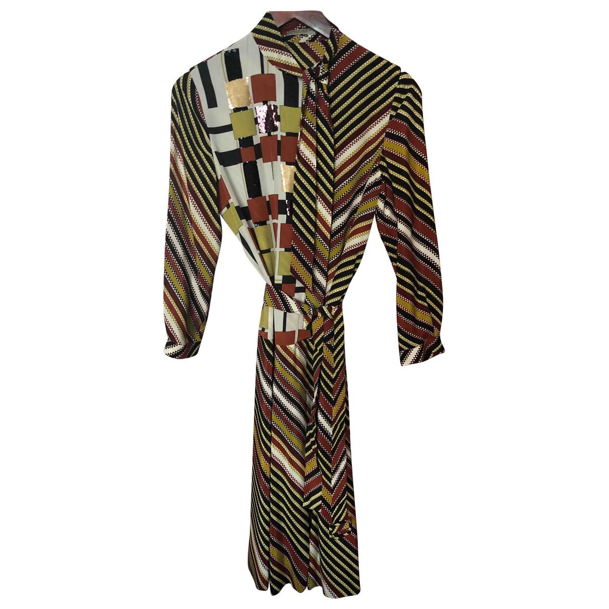 Bottega Veneta - Robe   pour femme en soie - multicolore