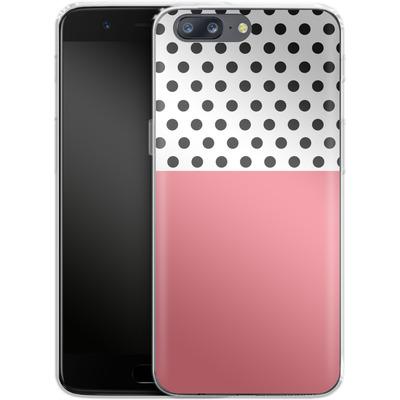 OnePlus 5 Silikon Handyhuelle - Coral Dots von caseable Designs