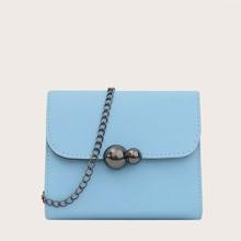 Solid Chain Crossbody Bag