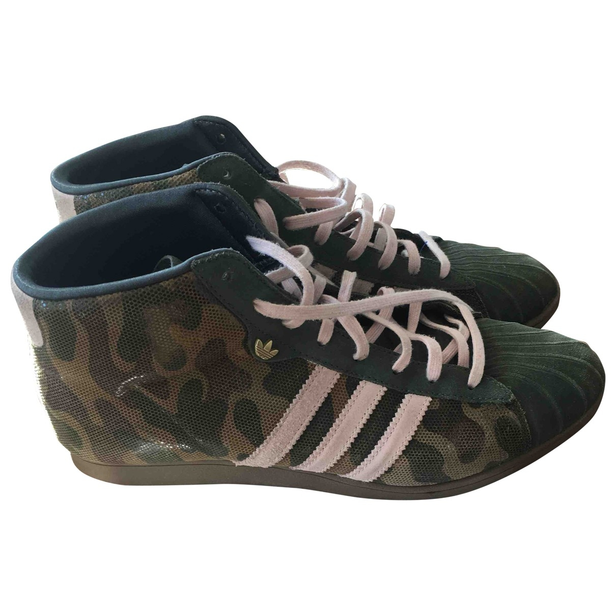 Adidas \N Khaki Leather Trainers for Women 41 EU