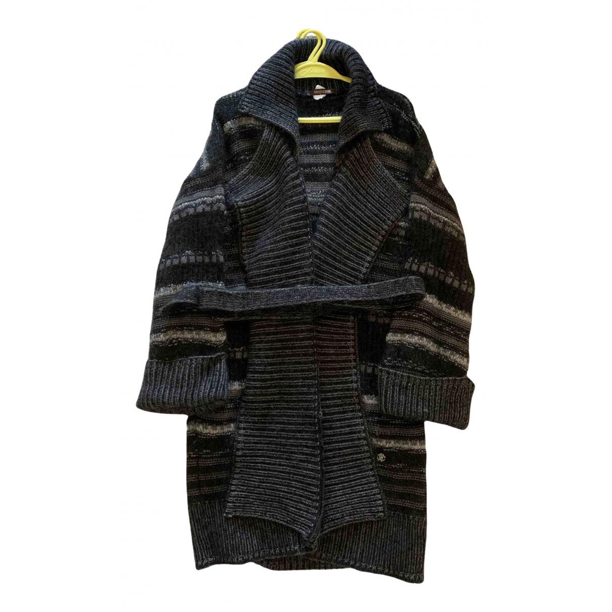 Roberto Cavalli - Pull   pour femme en laine - anthracite