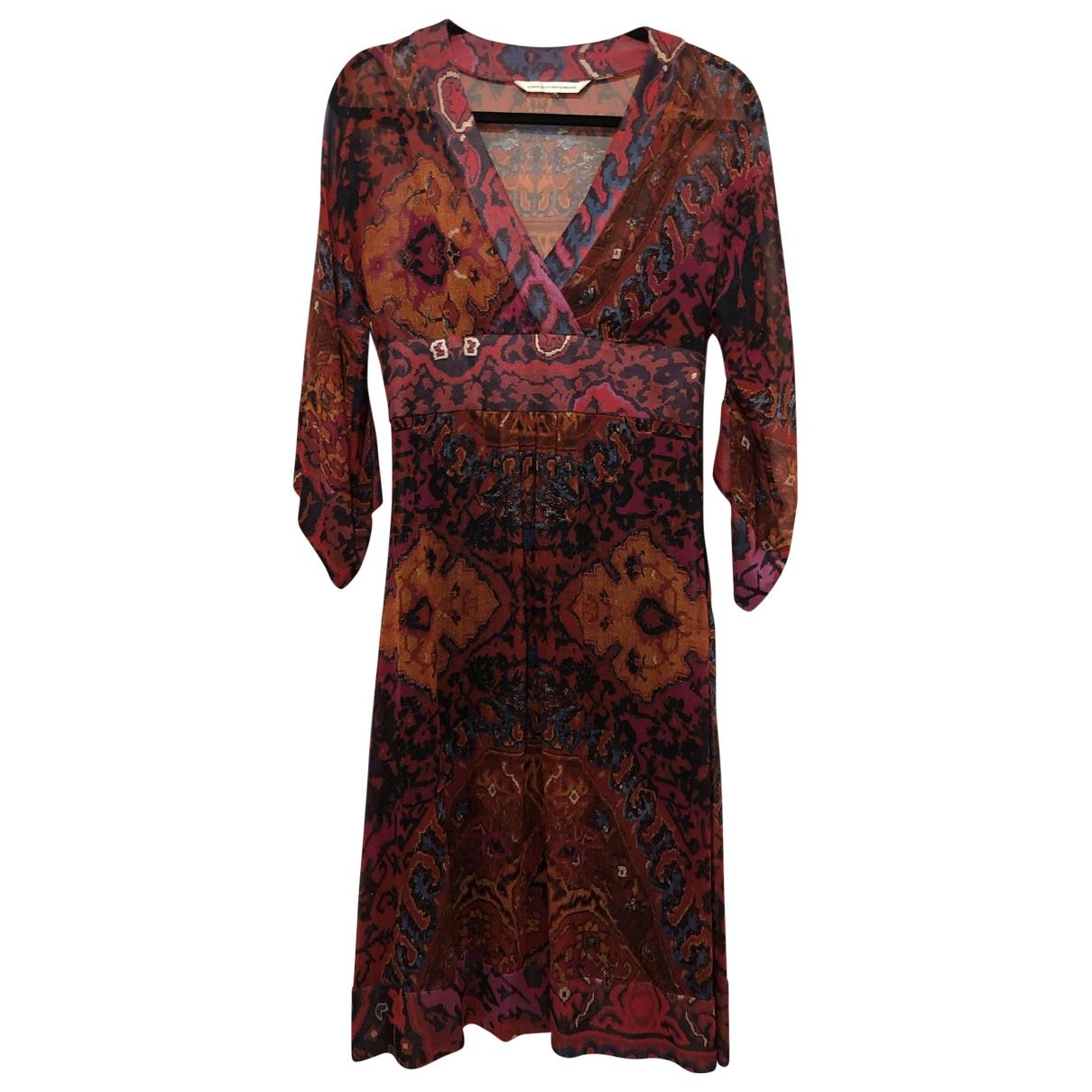 Diane Von Furstenberg \N Burgundy Silk dress for Women 4 US