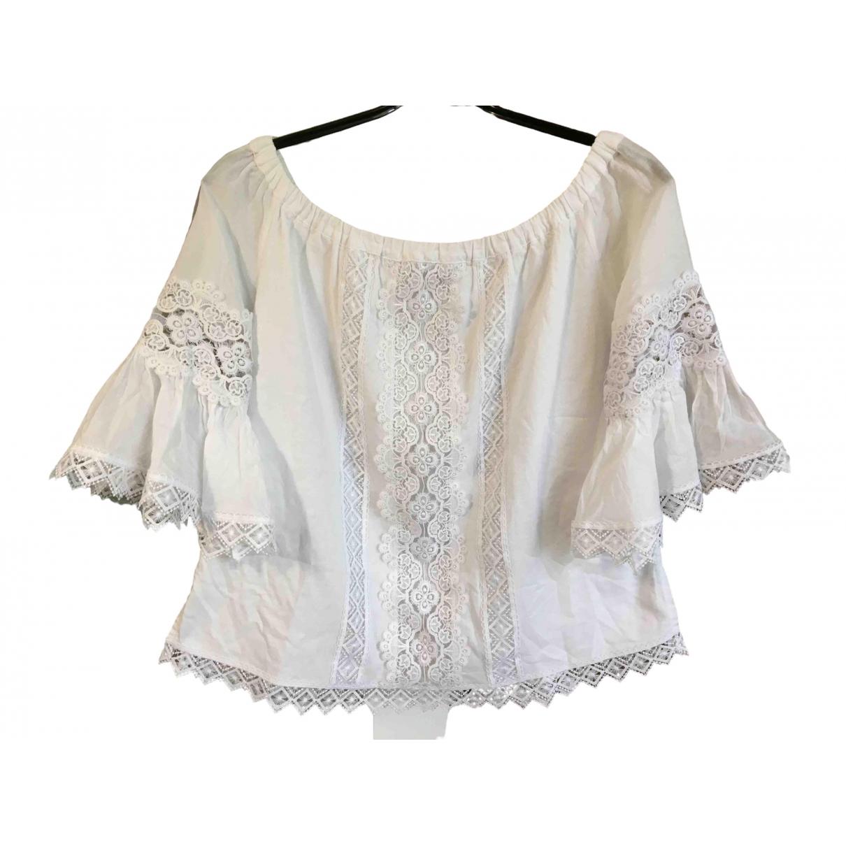 Charo Ruiz - Top   pour femme en coton - blanc