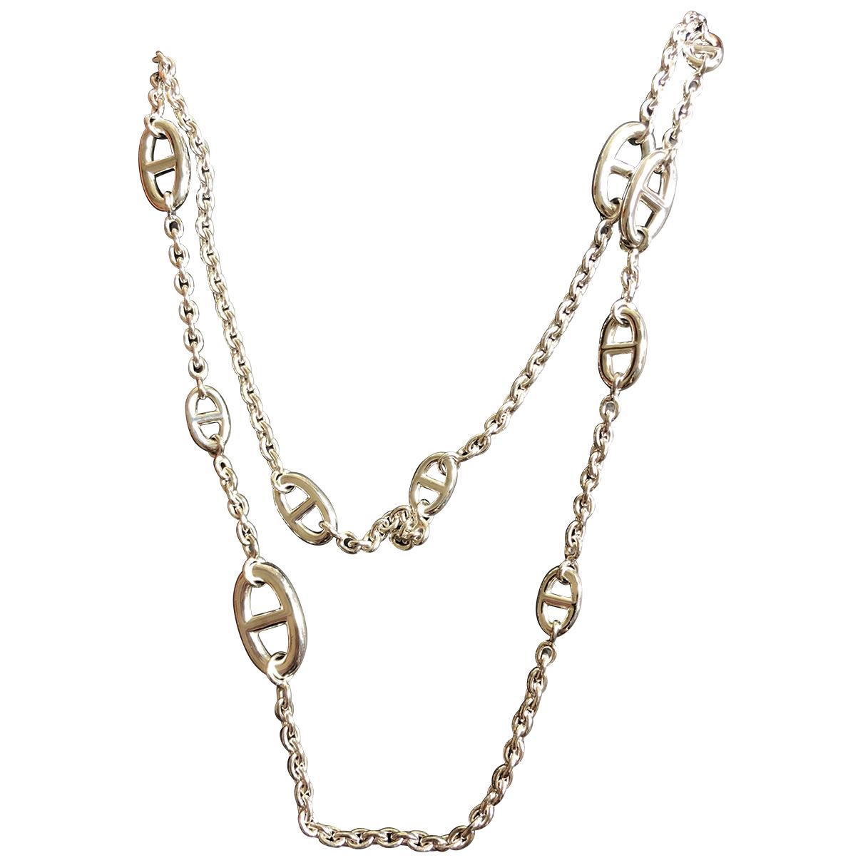 Hermes Farandole Kette in  Silber Silber