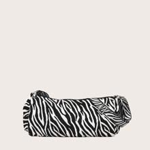 Bolsa bandolera con estampado de cebra