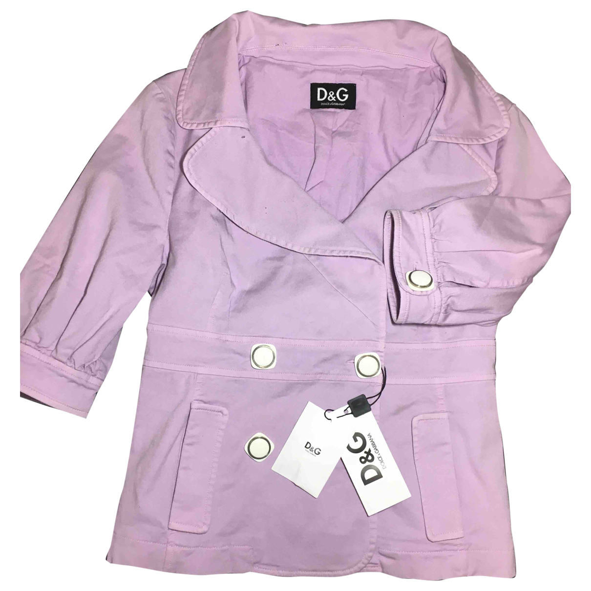D&g \N Purple Cotton jacket for Women 46 IT