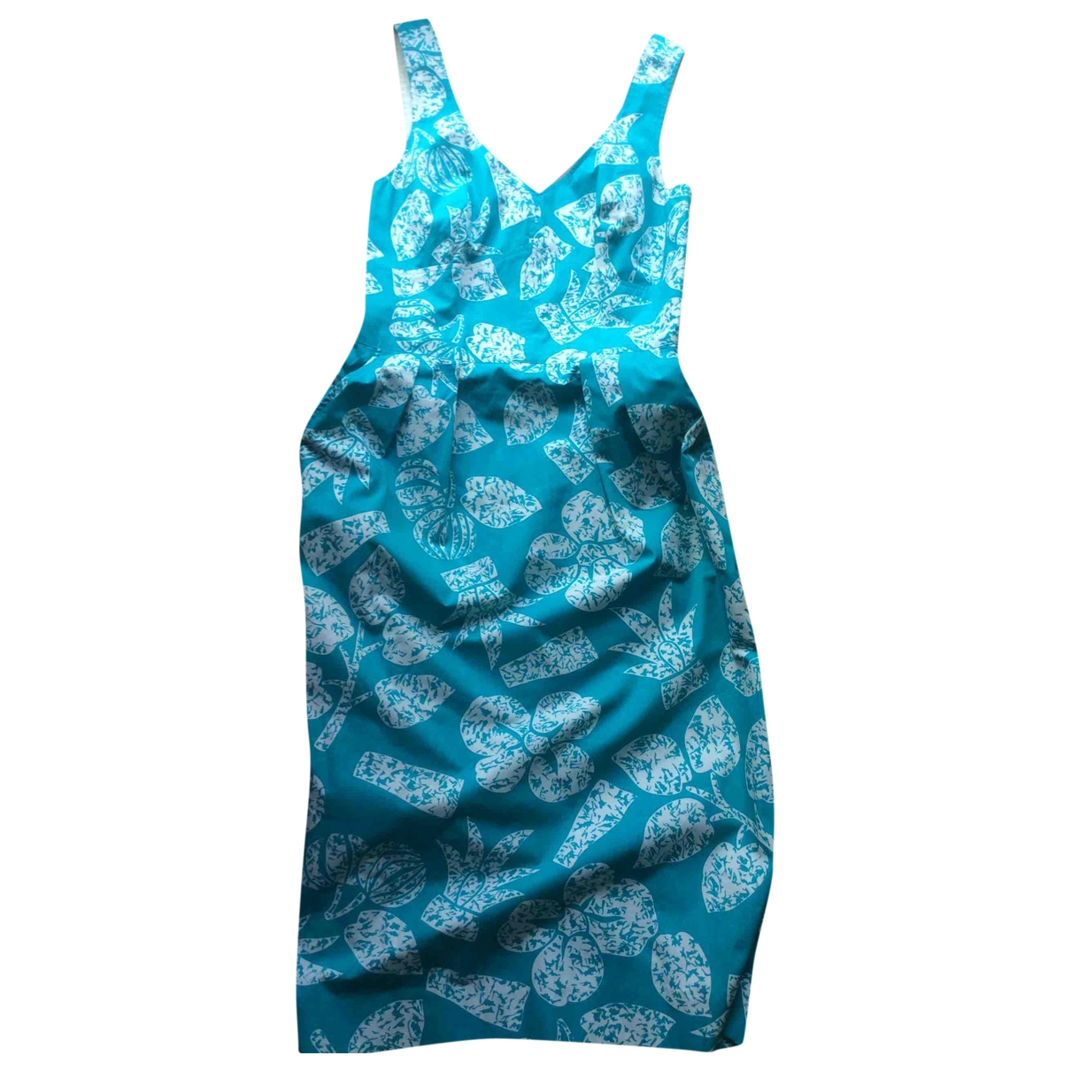 Guy Laroche \N Kleid in  Tuerkis Baumwolle