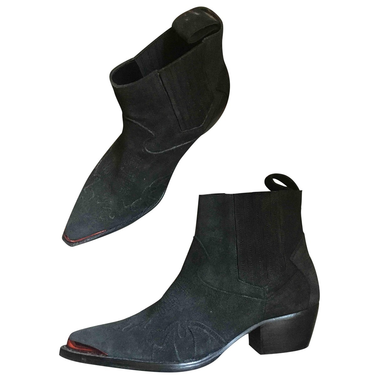 Zadig & Voltaire \N Black Suede Ankle boots for Women 40 EU