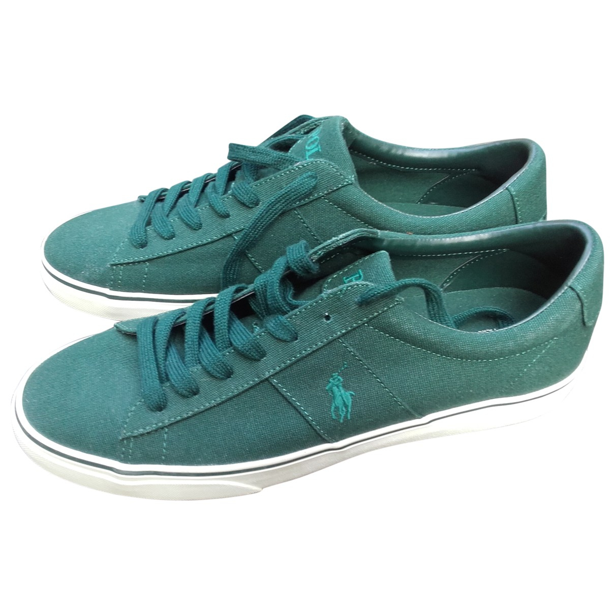 Polo Ralph Lauren \N Green Cloth Trainers for Men 46 EU