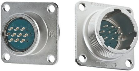 JAE Connector, 10 contacts Box Mount Miniature Socket, Solder (5)