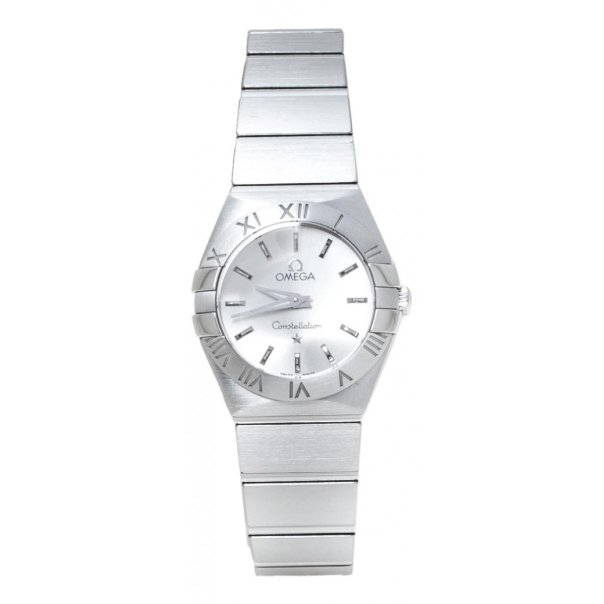 Omega Constellation Uhr in  Silber Stahl