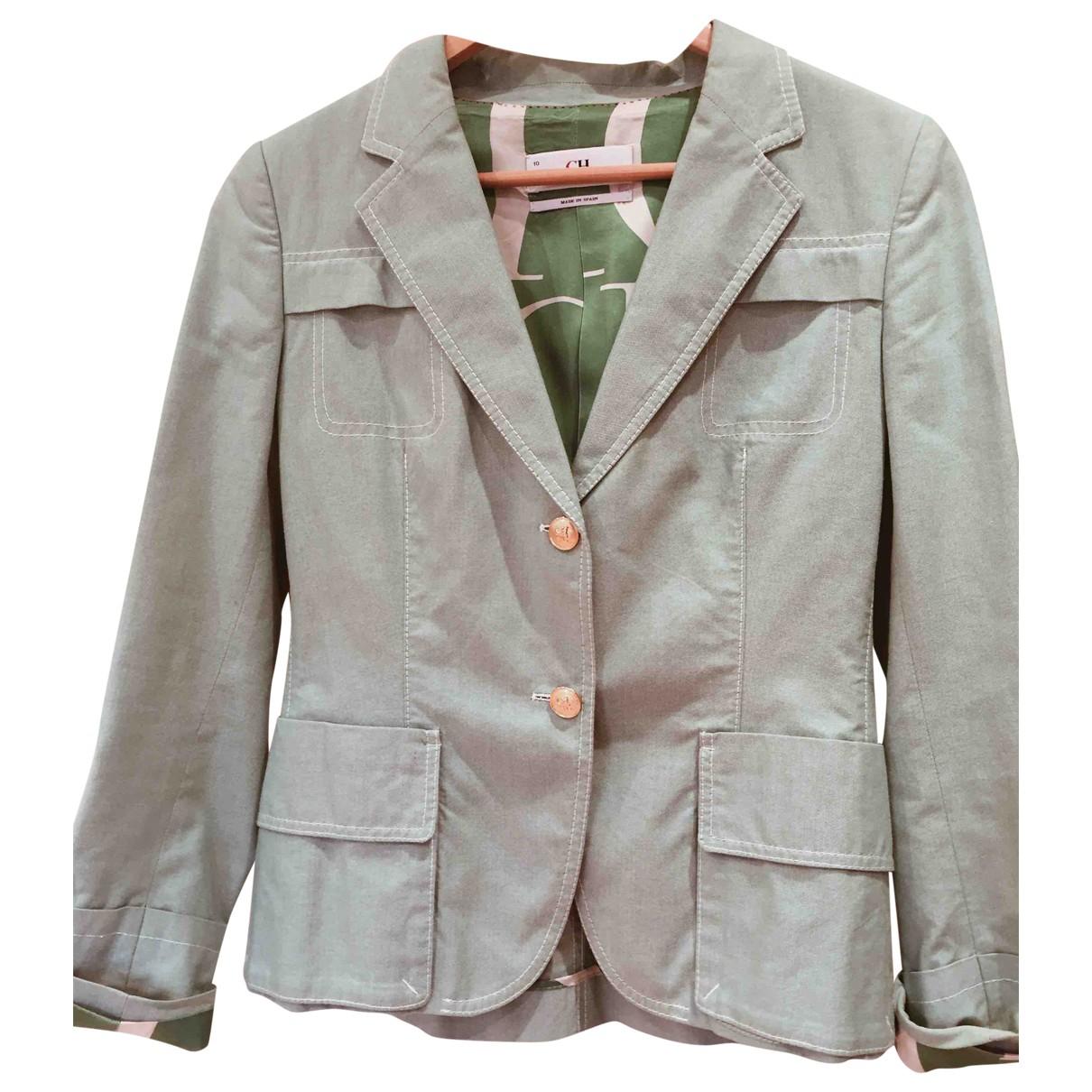 Carolina Herrera - Veste   pour femme en coton - vert