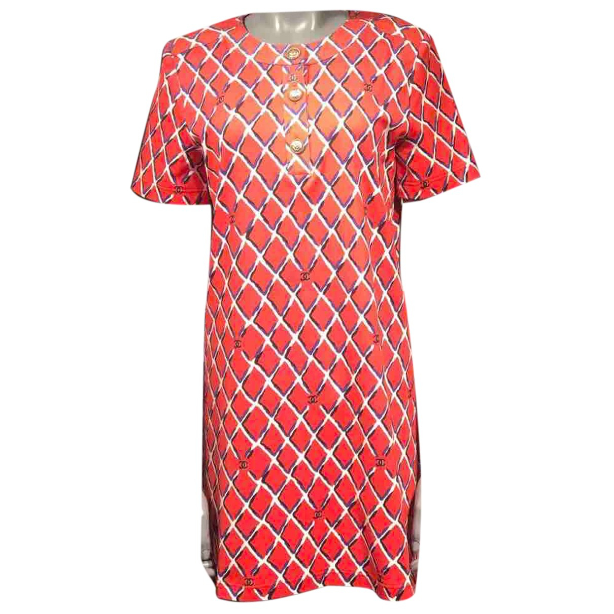 Chanel N Red Cotton dress for Women 38 FR