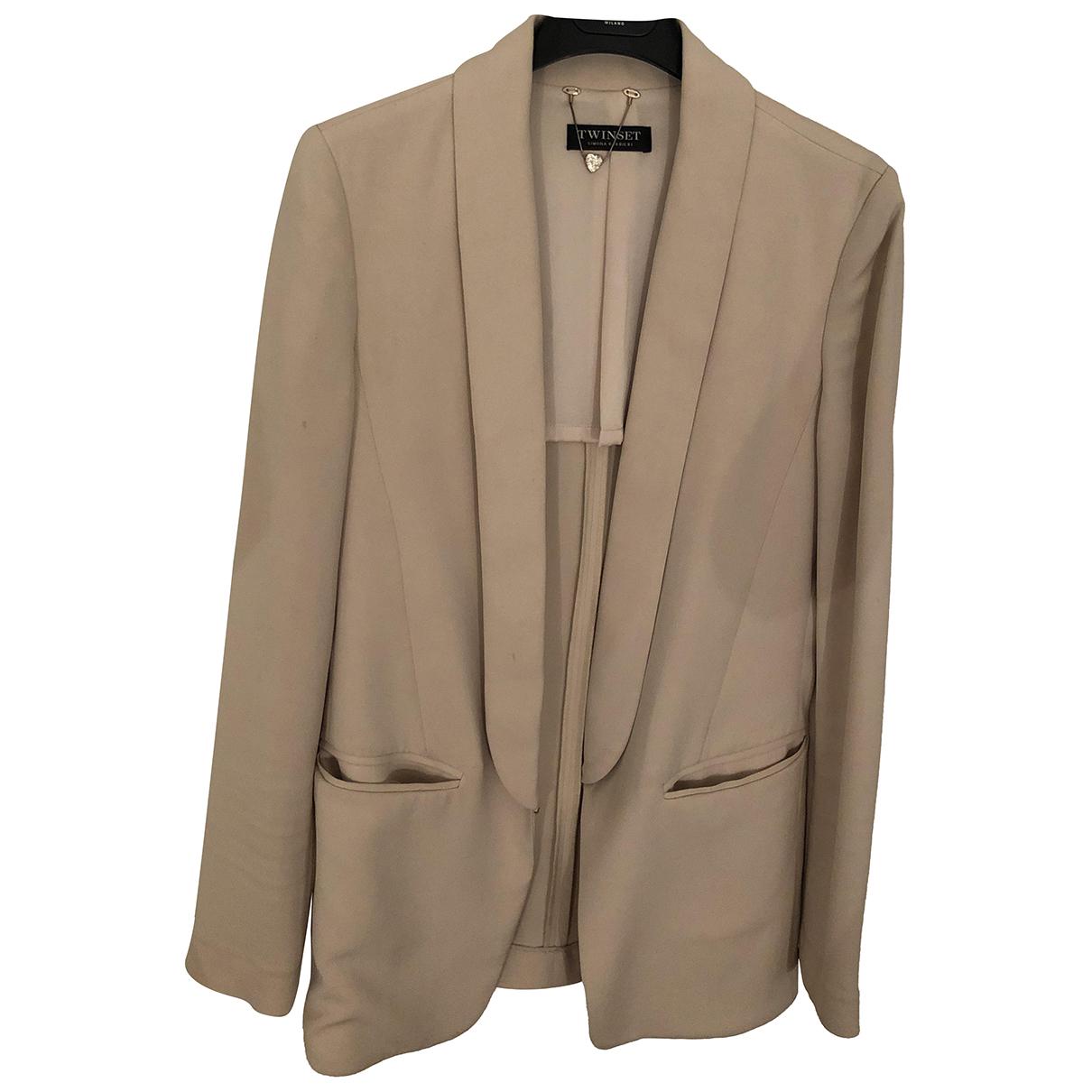 Twin Set N White jacket for Women 40 IT
