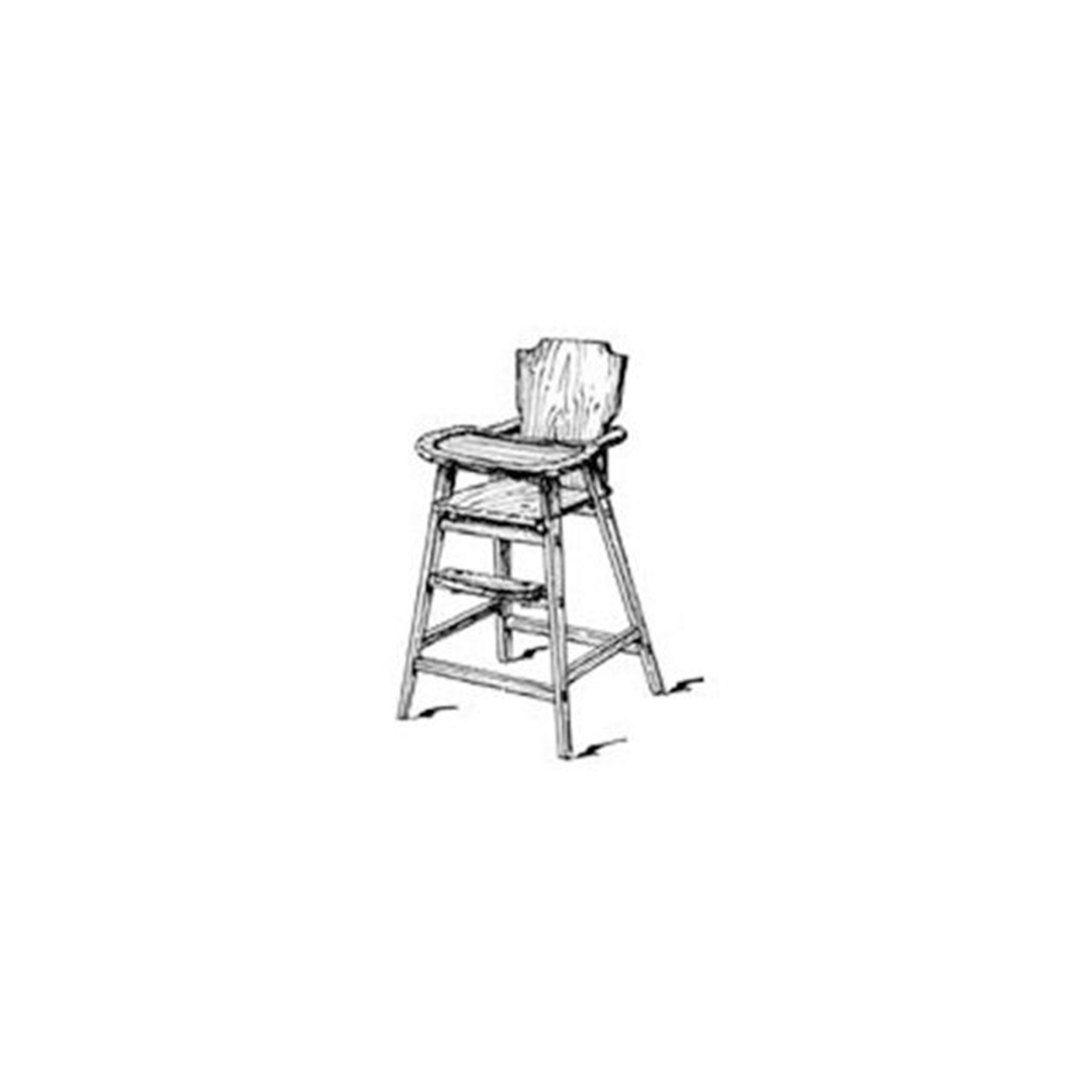 Woodworking Project Paper Plan to Build 60's Era High Chair