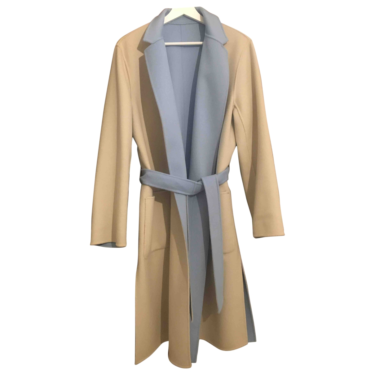 Max Mara Weekend \N Ecru Wool coat for Women 14 UK