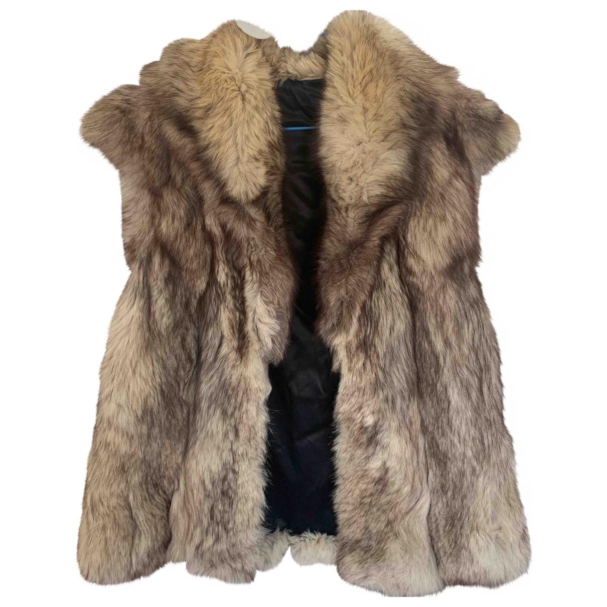 Non Signé / Unsigned \N Beige Fox coat for Women 38 FR