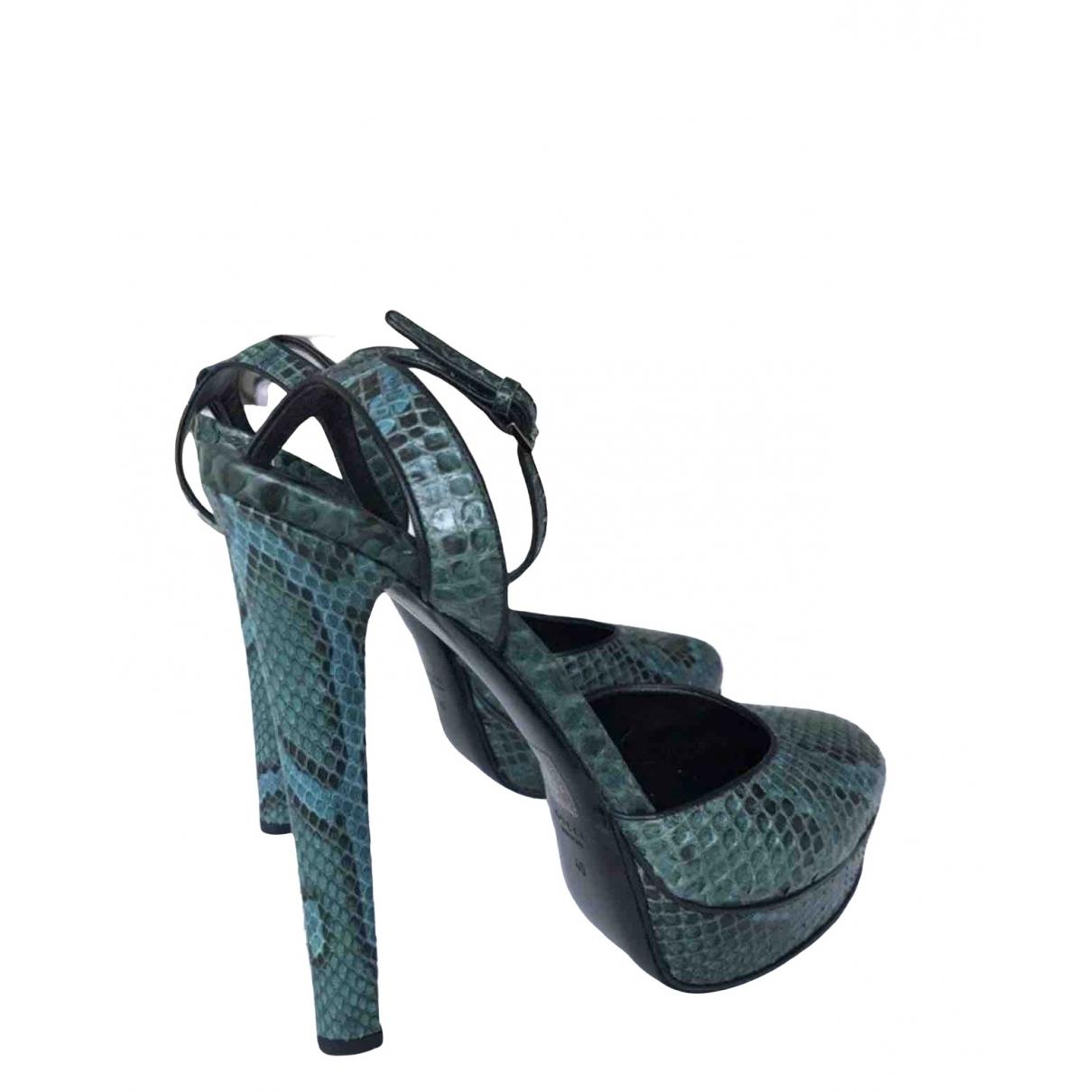 Gucci \N Blue Python Sandals for Women 40 IT